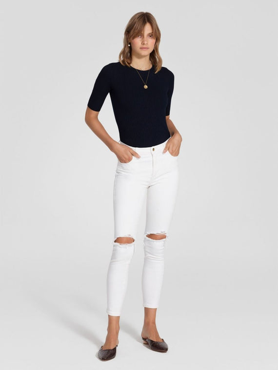 Nobody Denim Cult Skinny Ankle Comfort Crystalise