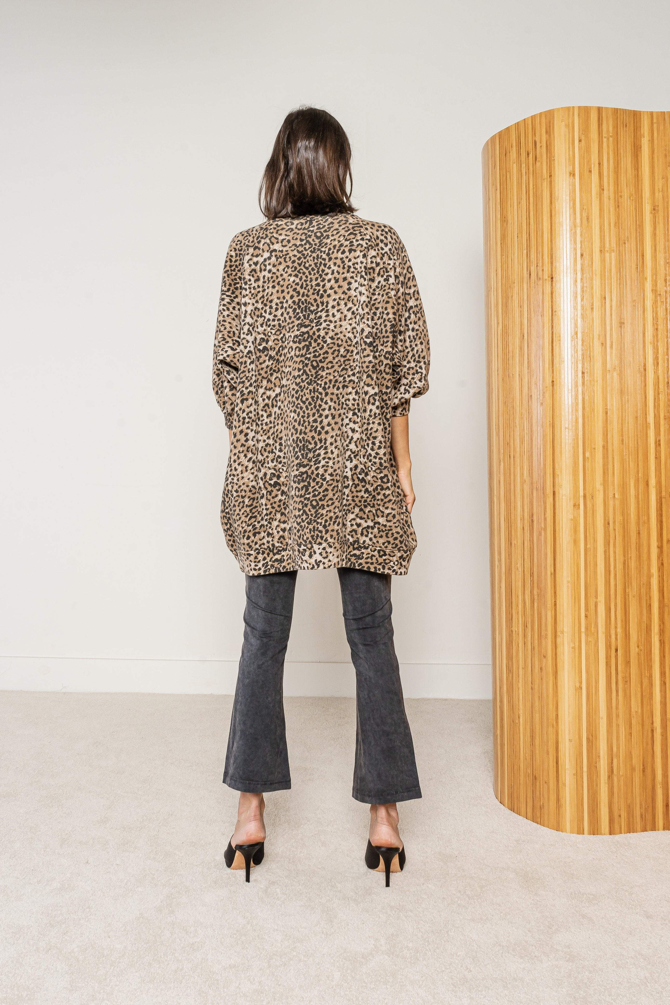 Ragdoll LA Super Oversized Sweat Leopard