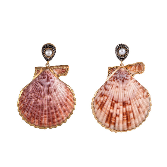 Mayol Royal Scallop Earrings