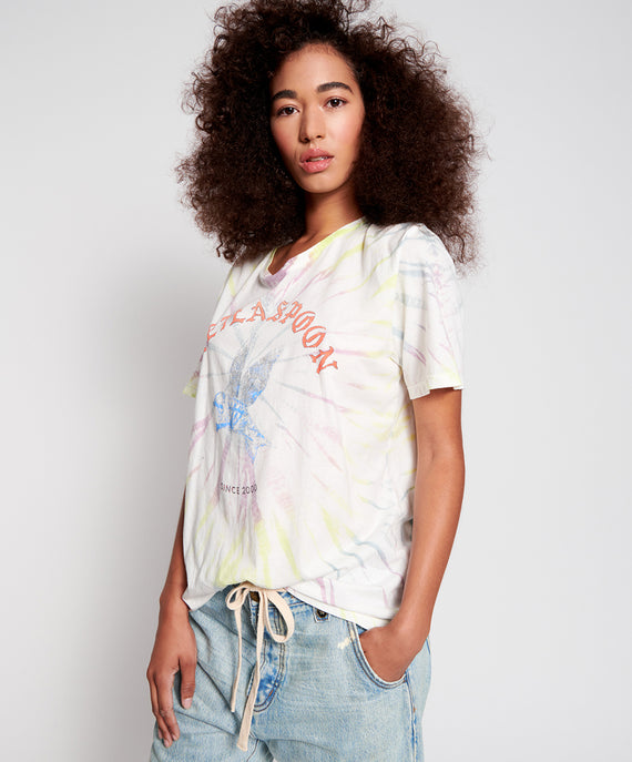 One Teaspoon Tie Dye Bower Bird Boyfriend Tee