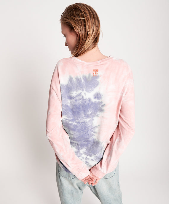One Teaspoon Lilac Smoke Tie Dye LS Tee