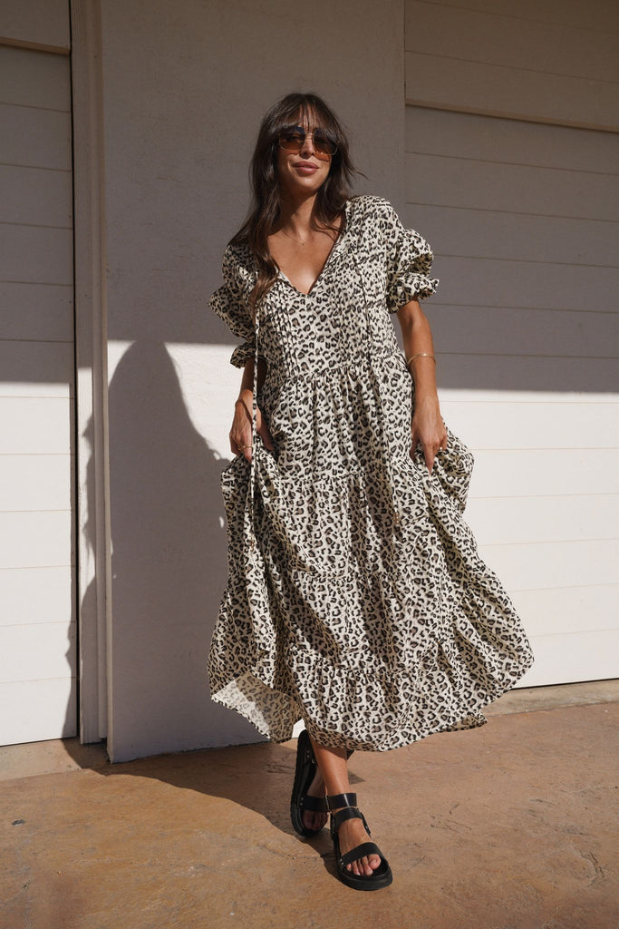 La Bohème Girls Willow Maxi Leopard