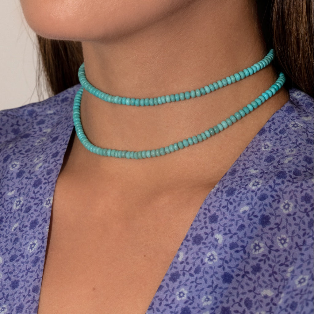 Baby Anything Cher Turquoise Necklace