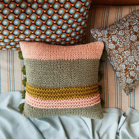 Sage X Clare Maisy Knit Cushion