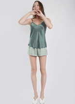 Silk Laundry Bias Cut Cami Sea