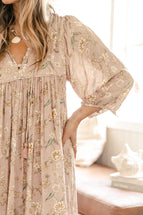 Indian Summer Co Palm Smock Blush