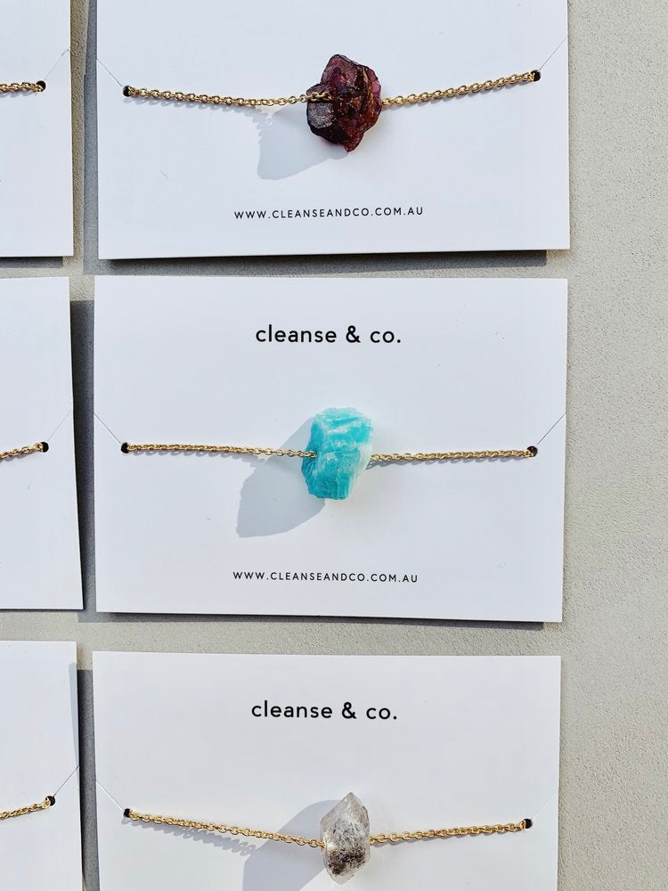 Cleanse & Co Raw Stone Crystal Necklace