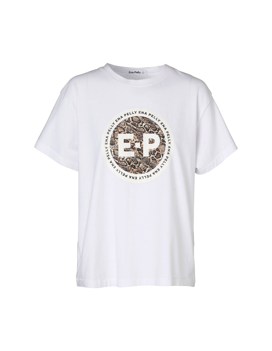 Ena Pelly Snake Stamp Tee White