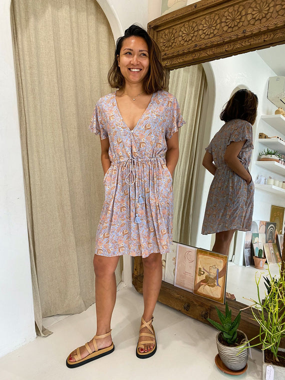 Indian Summer Co Sunlight Mini Dress Periwinkle