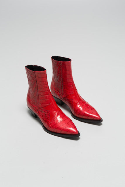 DOF Frida Boot Red Croc