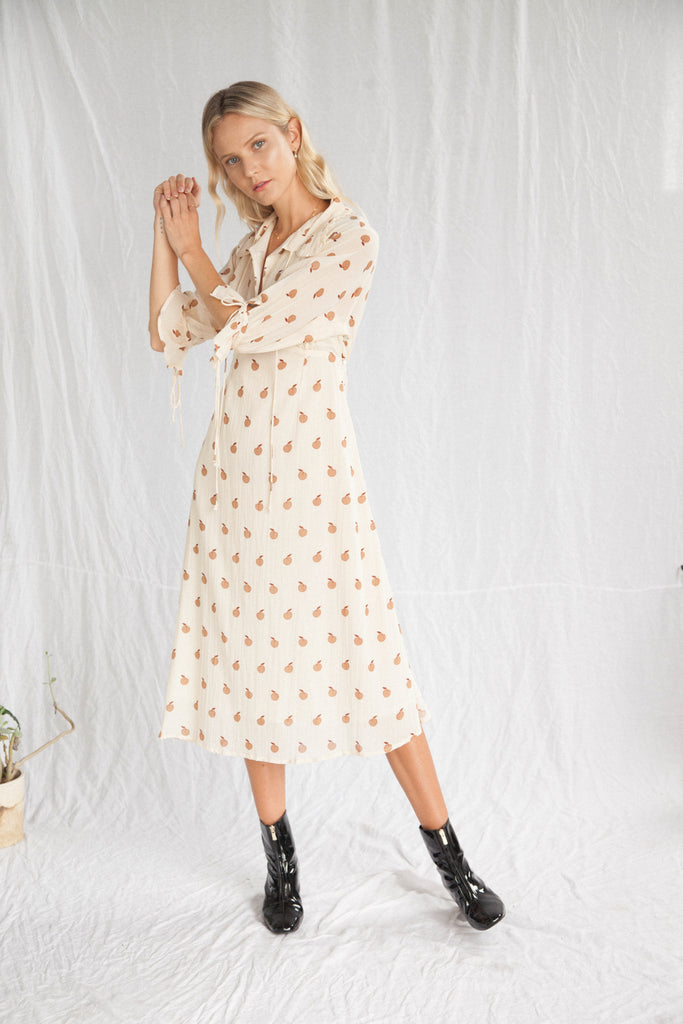 Kinga Csilla Peach Mirella Dress