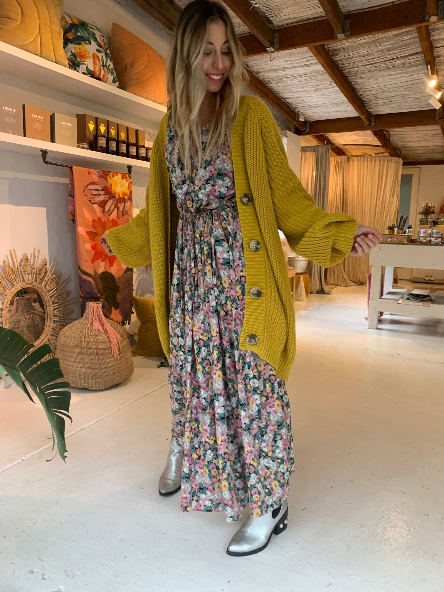 La Boheme Girls Selma Maxi Winter Floral