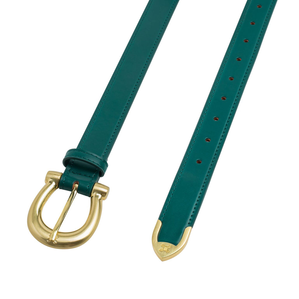 Sancia Camille Belt Hunter Green