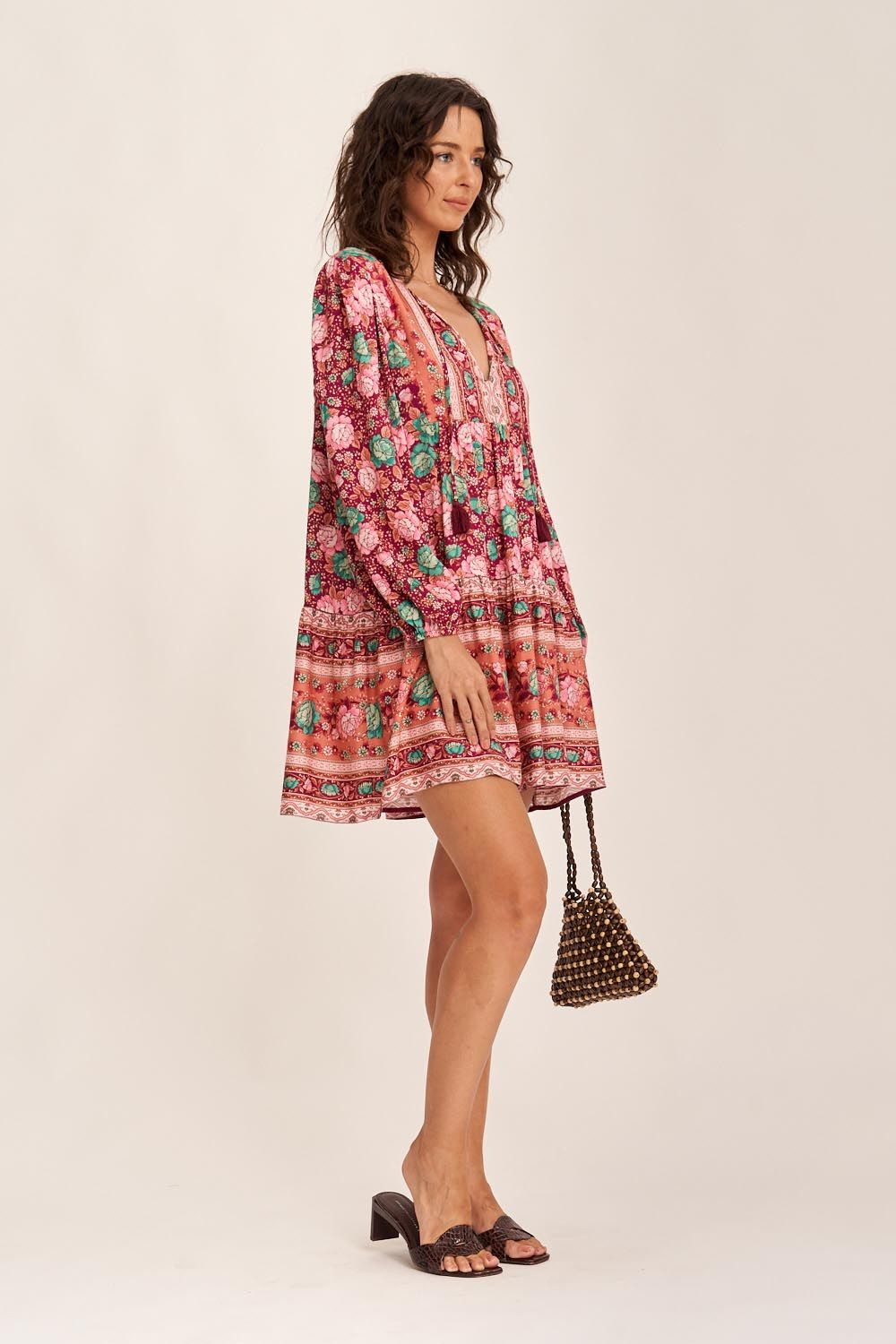 Arnhem Amberley Tunic Dress Ruby