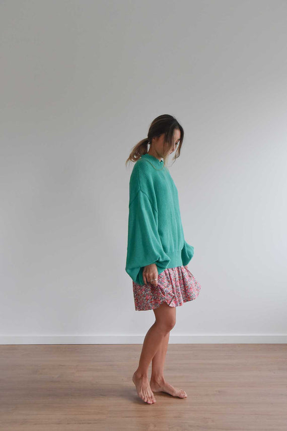La Bohème Girls Piper Knit Jumper Jade