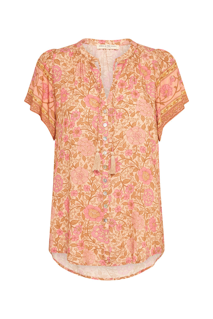Spell Love Story Blouse - Peach Blossom