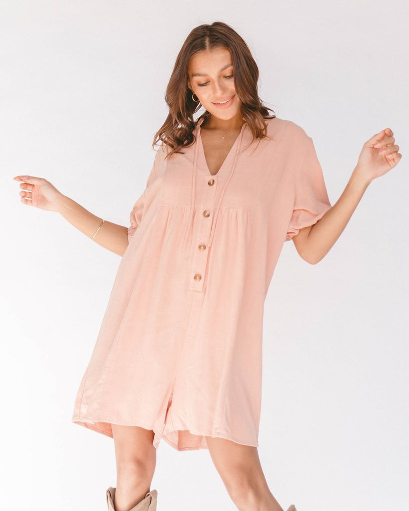 The Lullaby Club Cody Playsuit Rose
