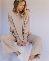 The Lullaby Club Alex Knit Sweater Sand