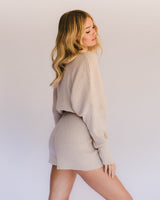 The Lullaby Club Alex Knit Shorts Sand