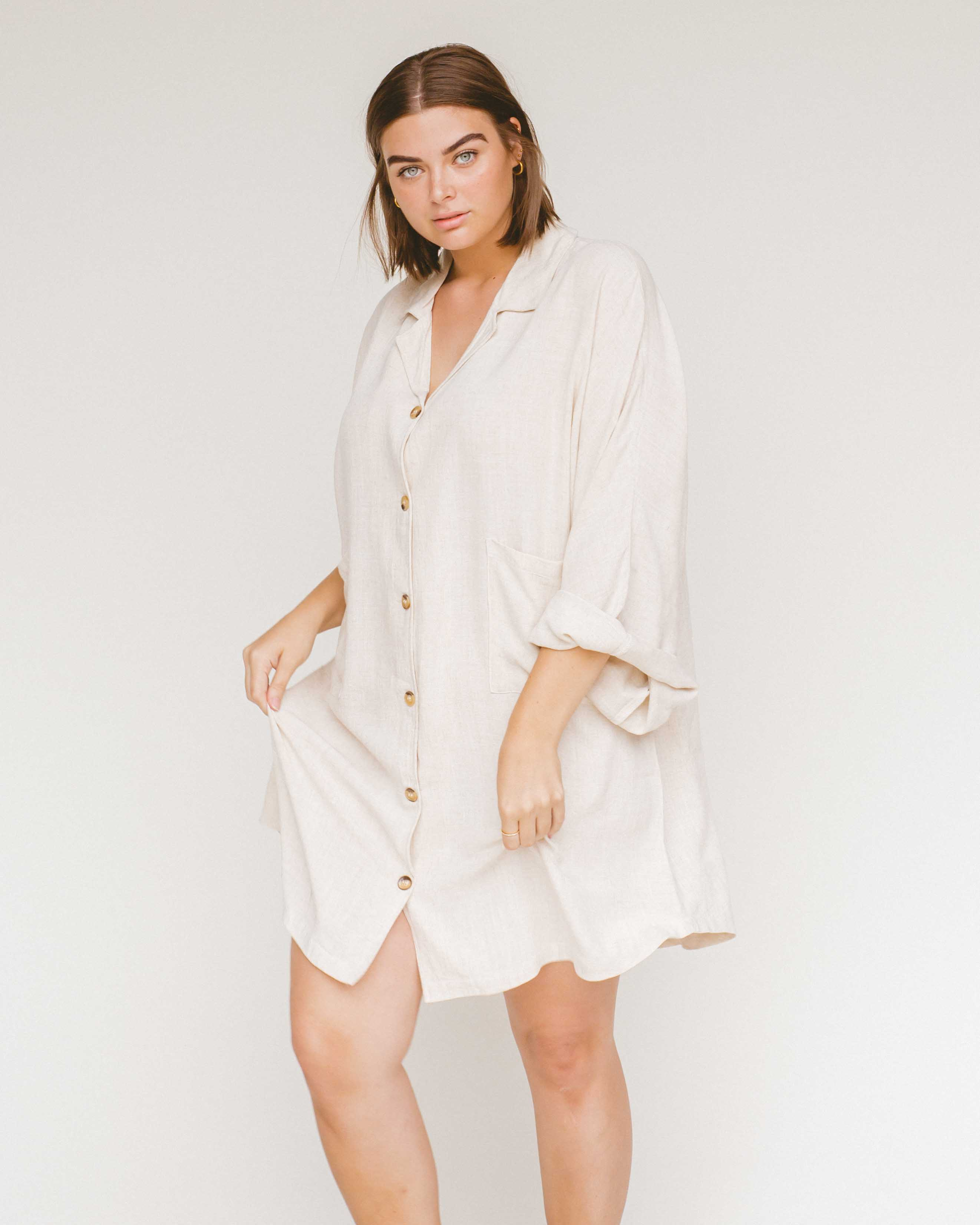 The Lullaby Club Lounge Dress Oat