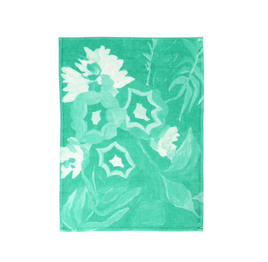 Botanical Green Tea Towel