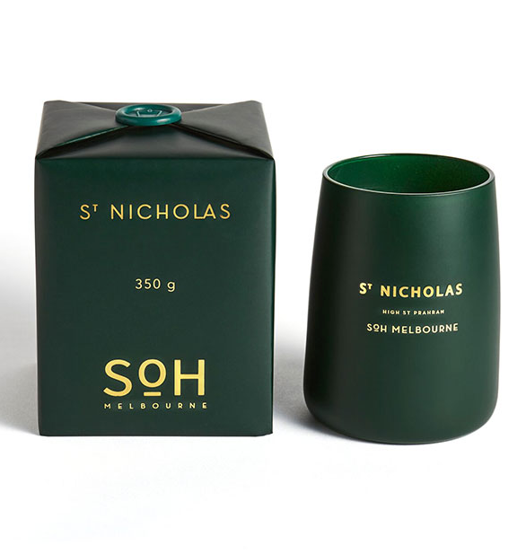 SOH Melbourne St Nicholas British Green Candle