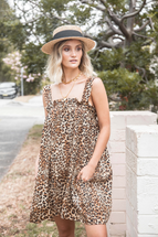 La Boheme Girls Belle Mini Dress - Leopard