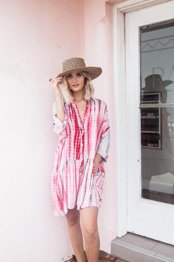 La Boheme Girls Indie Tie Dye Shirt Dress