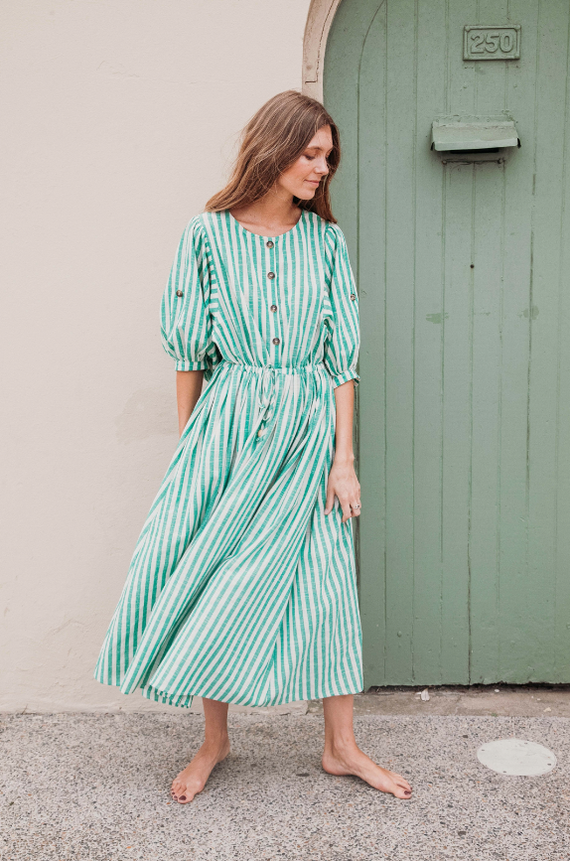 La Boheme Girls Limited Edition Selma - Emerald Stripe