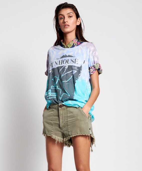 One Teaspoon Tie Dye Fun House Boyfriend Tee