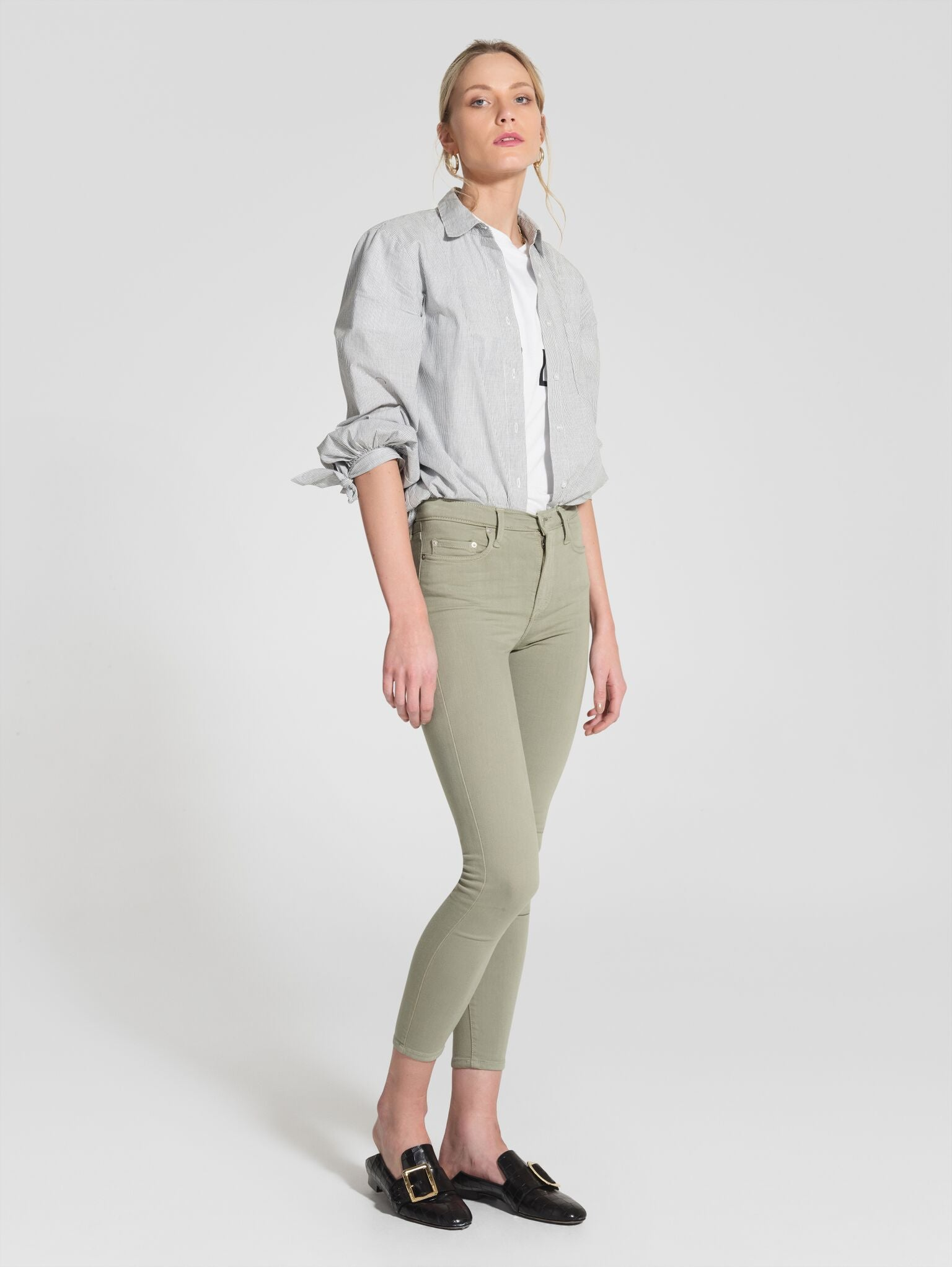Nobody Denim Cult Skinny Ankle Light Sage