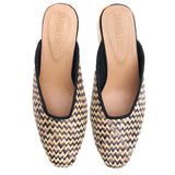 Cafe Society Black Woven Mule