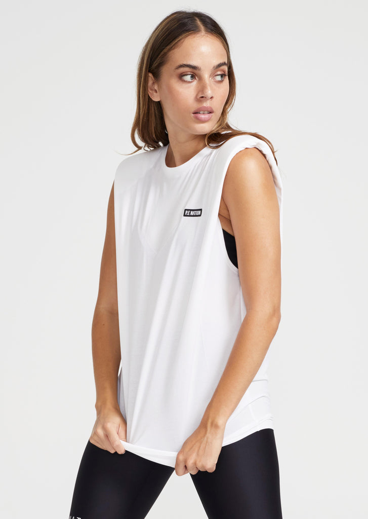 PE Nation Power Play Tank White