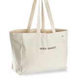 Seed & Sprout Organic Pocket Tote Shopping Bag