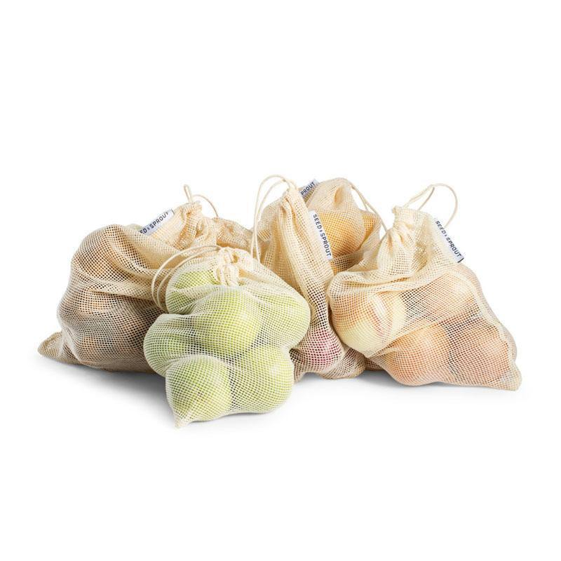 Seed & Sprout Organic Mesh Produce Bags - Set of 5