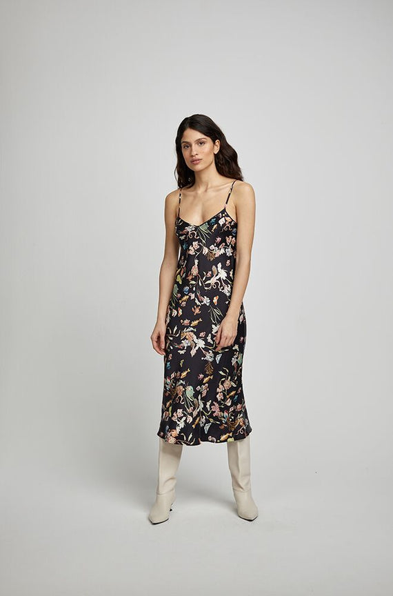 Silk Laundry 90s Silk Slip Dress Anamalia