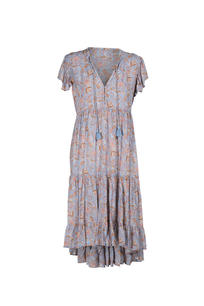 Indian Summer Co Poppy Dress Periwinkle