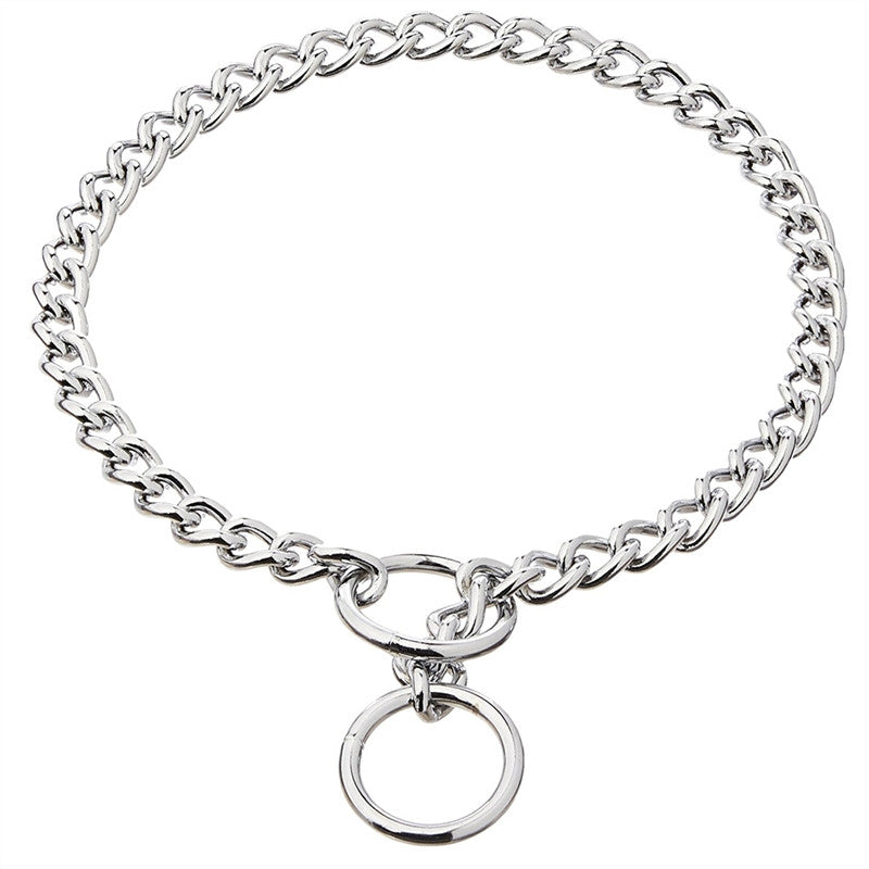 Metal Chain Dog  Collars Necklace