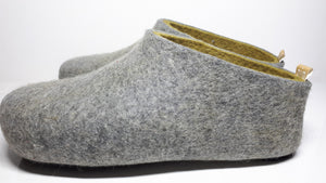 Warm Grey Olive Green Interior layer Men's Slipper