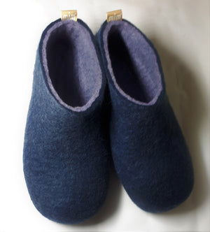 Warm navy with grey Interior Women's Slippers