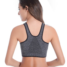 Women Zipper Fitness Sports Bras