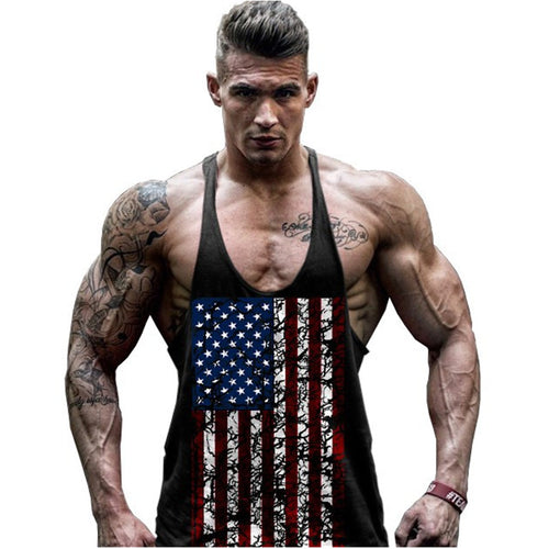 American Flag Men Sleeveless Muscle Shirt