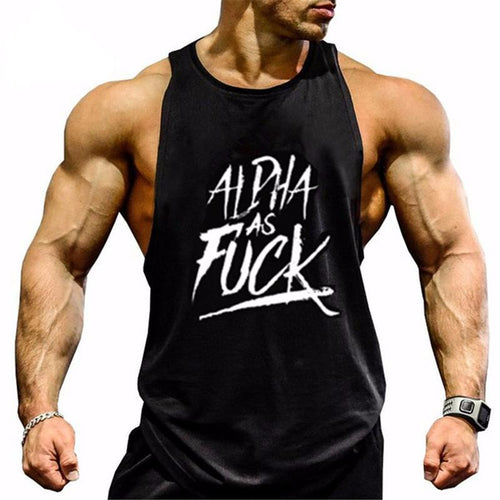 ALPHA Men Sleeveless Muscle Shirt