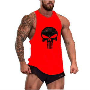 SKULL Men Sleeveless Muscle Shirt