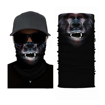 Ape Face Mask Multifunctional Scarf RUFFNEK® Black