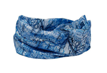 Ben Nevis - The National Three Peaks Multifunctional Scarf RUFFNEK® Blue