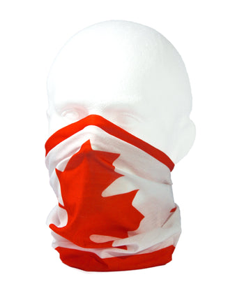 CANADIAN FLAG / MAPLE LEAF / l'Unifolié Neck Gaiter RUFFNEK® Red/White