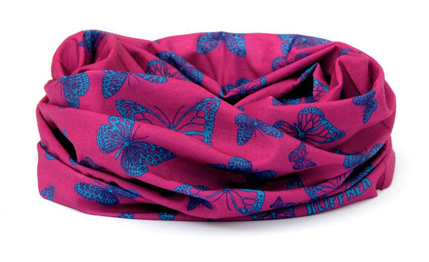 Dark Pink & Blue Butterfly RUFFNEK