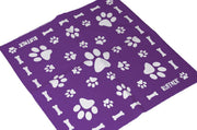 Reflective Dog Scarf/Bandana! Purple Dog Scarf RUFFNEK® Purple
