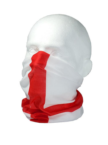 England / St Georges Flag Multifunctional Scarf RUFFNEK® Red/White